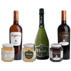 Variedad de vinos y sus mermeladas