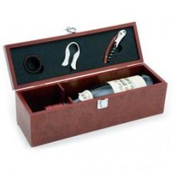 Set de vino caja de madera sin botella