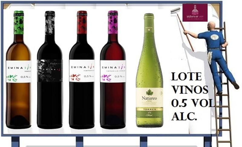 Lote de vinos 0.5 vol. alc.