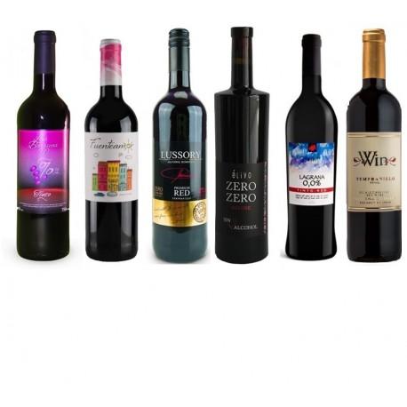 Gran lote de vino tinto 0.0 vol. alcohol