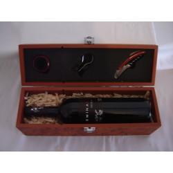 Caja de madera set de vinos con botella Eminasin 12 meses